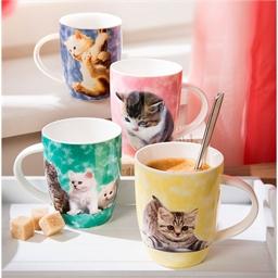 4 mugs chatons
