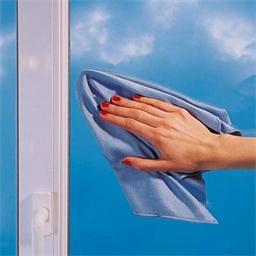 Mikrofasertuch speziell für Fensterscheiben