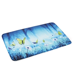 Night-time butterflies bath mat