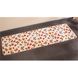 Flower and butterfly mat