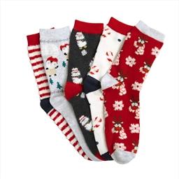 Set of 5 pairs of Christmas socks - size 3/5