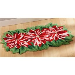Teppich in Form eines Weihnachtssterns