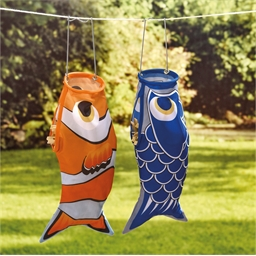 Fish clothes peg bag