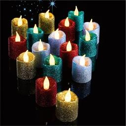 16 bougies pailletées