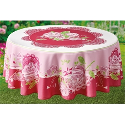 Roses tablecloth Circular