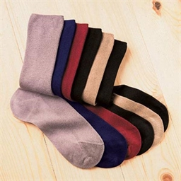 6 non-constricting socks 5 colours - size 6/6½