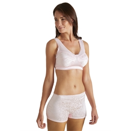 Lot de 2 Satin Bra Lot n°1 : blanc + noir - taille M