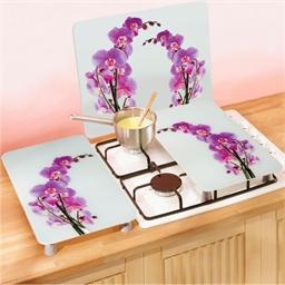 Protection mur cuisine fleur d'orchidée