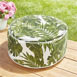Pouf feuilles tropicales
