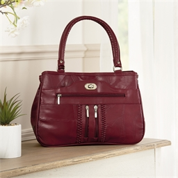 Sac patchwork rouge
