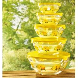 Lemon pattern glass bowls