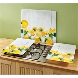 2 couvre plaques citrons - Couvre mur citrons