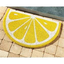 Halvemaanvormige deurmat citroen