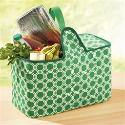 Folding cool basket