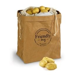 Ecologische knoflookzak, uienzak, aardappelzak of 3 ecologische zakken voor aardappelen/knoflook/uien