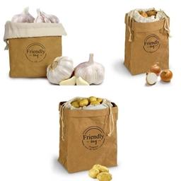 Sac éco ail, oignon, pommes de terre ou 3 sacs éco pommes de terre/ail/oignon