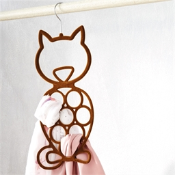 Cat scarf hanger
