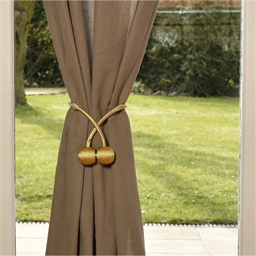 2 magnetic curtain holdbacks