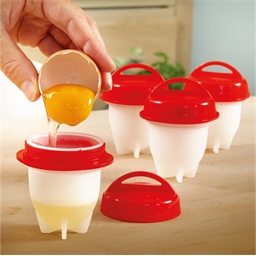 4 silicone egg cookers