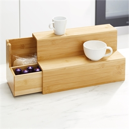 Bamboo shelf with drawer
