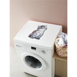 Couvre lave-linge chat