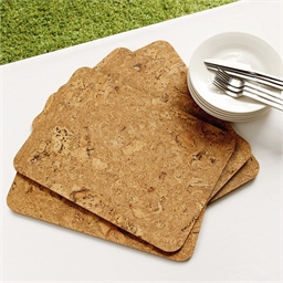Set of 4 cork table mats