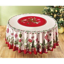 Runde Tischdecke oder Rechteckige Tischdecke Weihnachtskugeln