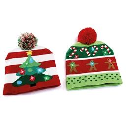 Bonnet lumineux Pain d'épices de Noël - Bonnet lumineux Sapin de Noël