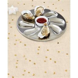 Lot de 2 ou 4 assiettes à huîtres inox