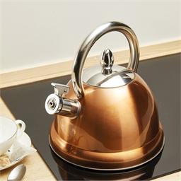 Copper coloured kettle
