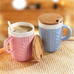 2 mugs torsades et bambou