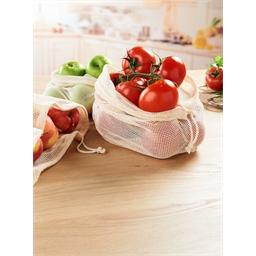 Lot de 3 filets fruits/légumes coton