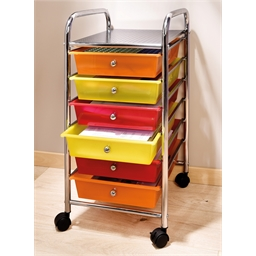 6 drawer filing cabinet on casters