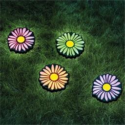 4 solar daisy stakes