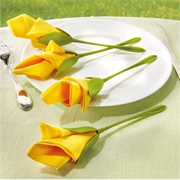 4 tulip serviette holders or 2 sets of 4 tulip serviette holders