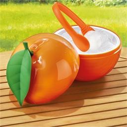 Orange ice bucket