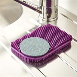 Carbon silicone scrubber