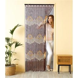 Wooden bead curtain