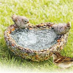 Abreuvoir oiseaux cœur