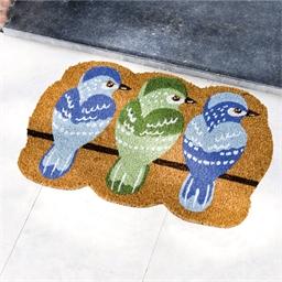 3 birds doormat