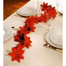"Guirlande de table à fleurs ""poinsettias"""