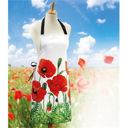 Wild poppy apron