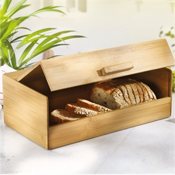 Straight lines bamboo bread bin
