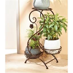 Gekrulde houder voor drie planten