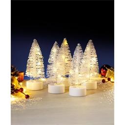 5 white LED Christmas trees