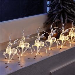 A string of reindeer lights