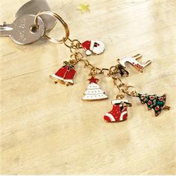Schlüsselanhänger 6 Weihnachts-Charms