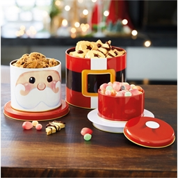 3-tier Christmas sweets container