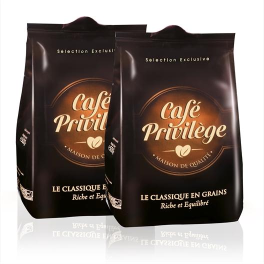 Café en grains Le Classique Lot de 2 x 500 g