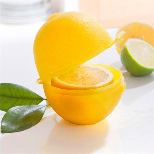 Gele citroenbewaardoos
